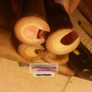 Tiêu trúc tím trung Quốc miệng thổi được khoét lại