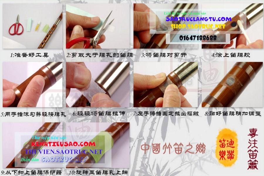 Hướng dẫn Cách dán màng rung sáo Tàu dizi